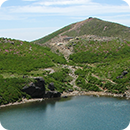 Mt.Nakadake and Miike pond