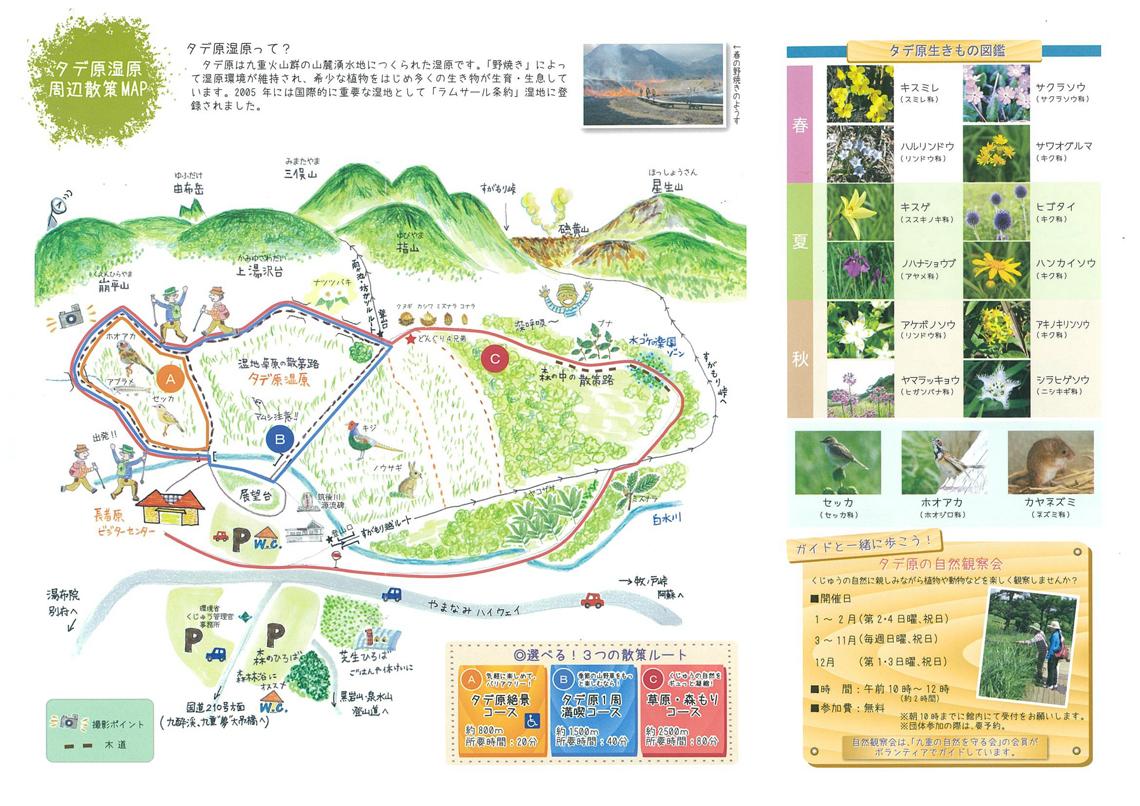 タデ原湿原周辺散策マップ