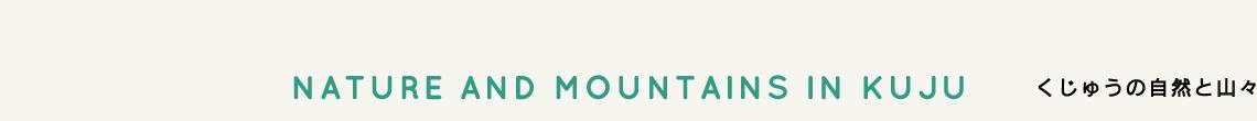 くじゅうの自然と山々